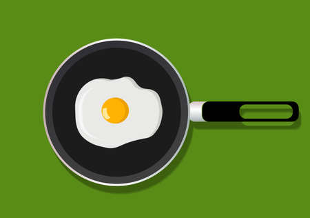 vector illustration - fried eggs