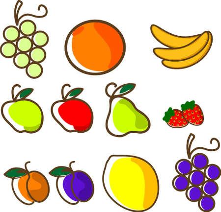 set of vector fruit Stock Vector - 3680090