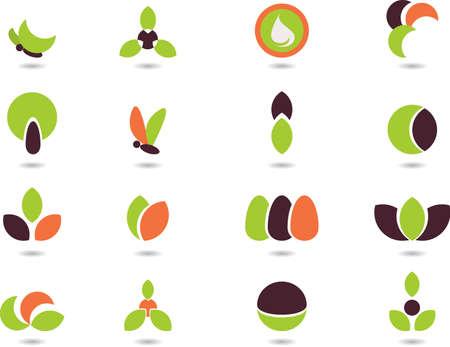 logo recyclage: s�rie de logos-nature
