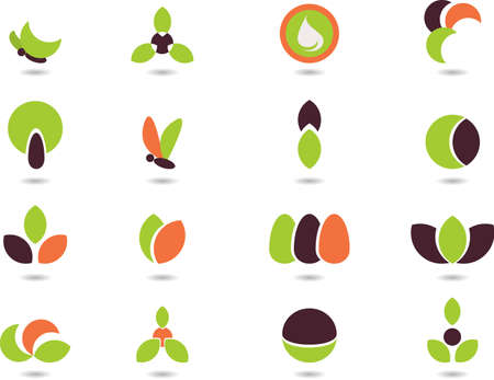 set of logos- nature Vector
