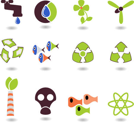 set of logos- ecology Illustration