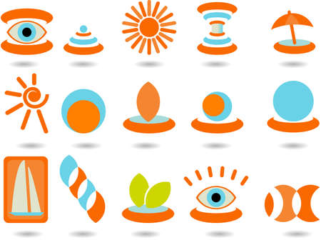 set of logos -summer Vector