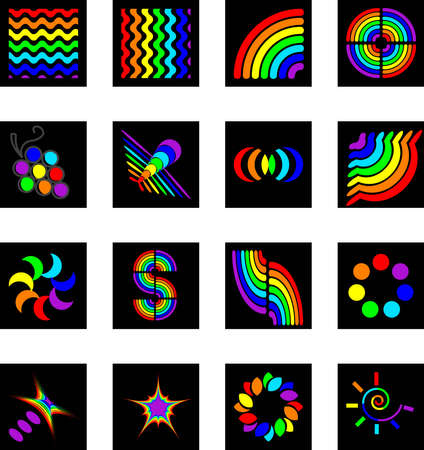 set of logos - rainbow Illustration
