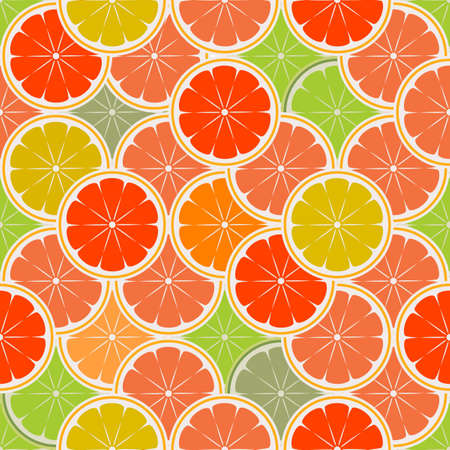 orange paradise - seamless Vector