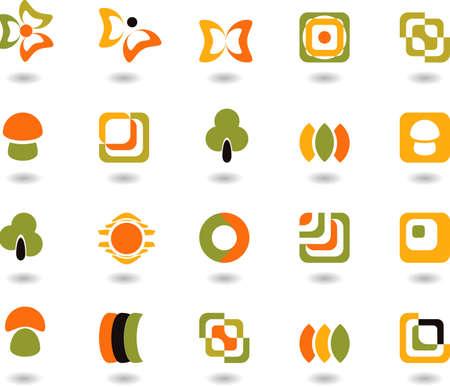 set of logos - nature - 12 Illustration
