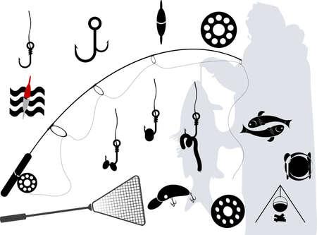 eine Reihe von Elementen über die Fischerei