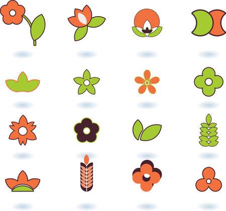 set of logos - nature - 16