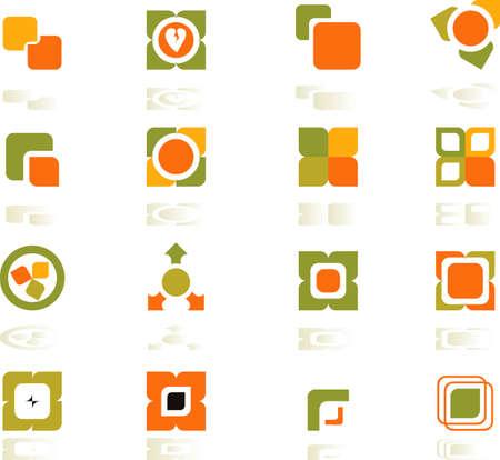 set of logos - nature -