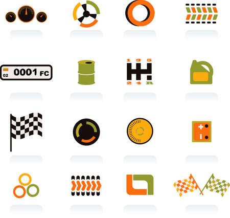 set of symbols -auto-12 Illustration
