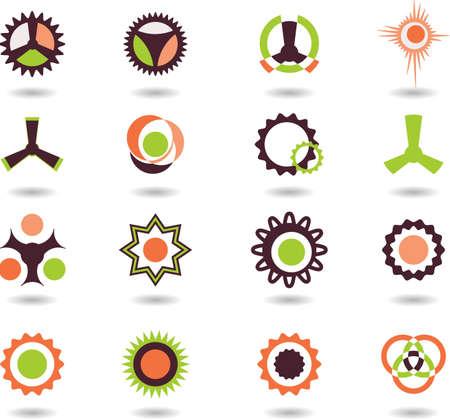 set of logos -12 Illustration