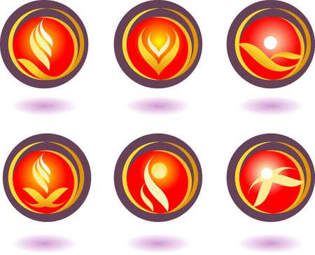 A set of vector symbols for creative design