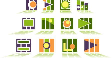 set of logos- tehno Stock Vector - 3885109
