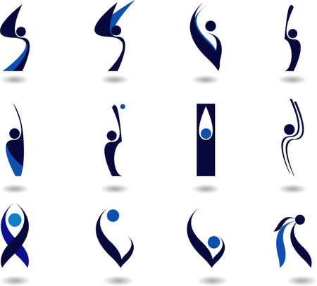 set of logos -sport-12 Stock Vector - 3885075