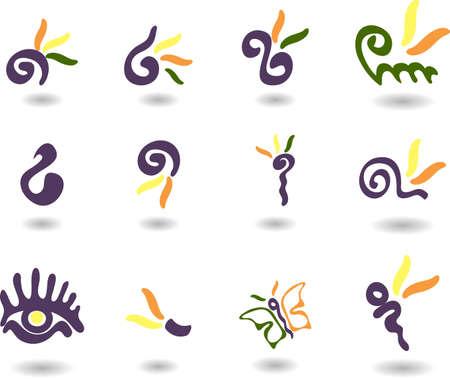 set of logos- magic