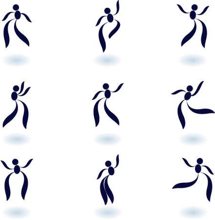 set of logos- Dance