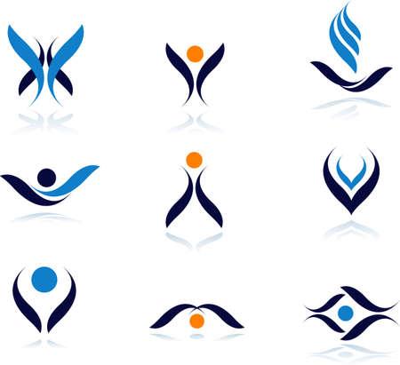 logo recyclage: Ensemble de symboles de vecteur design.See beaucoup de haute qualit� vecteur logo dans mon portefeuille