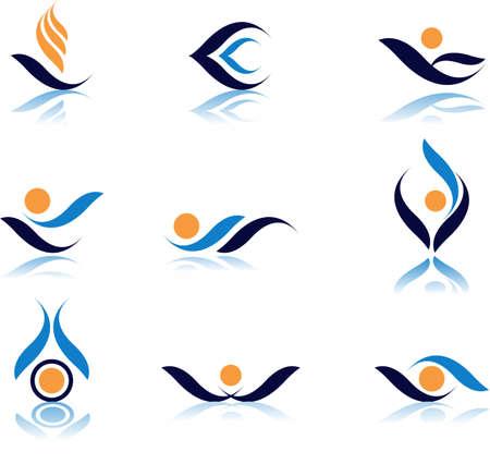logotipo abstracto: Conjunto de s�mbolos de vector design.See un lote de alta calidad vector logo en mi cartera