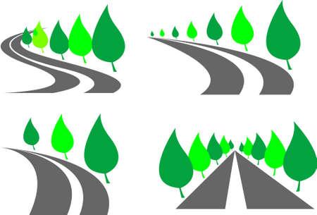 set of roads Illustration