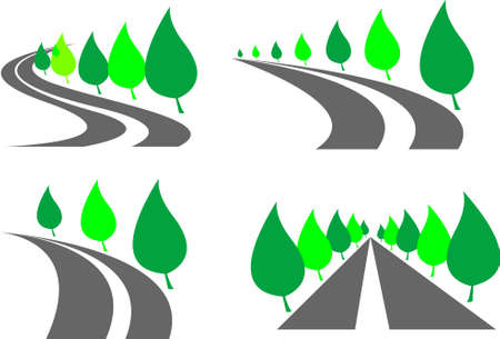 set of roads Illustration