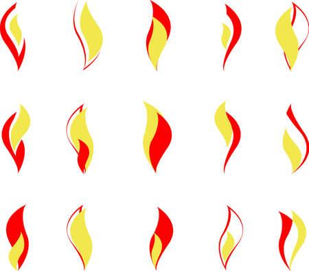 set of logos - gas Illustration