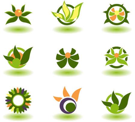set of logos - nature
