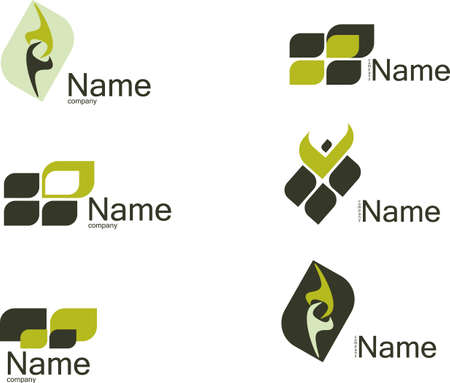 logo vector: Set of vector symbols for design.See a lot of high-quality vector logo in my portfolio Illustration