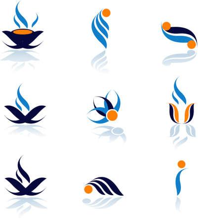 merken: Set van vector symbolen voor design.See veel van hoge kwaliteit vector logo in mijn portefeuille Stock Illustratie