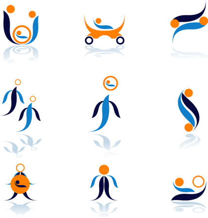 Set of vector symbols for design.See a lot of high-quality vector logo in my portfolio Illustration