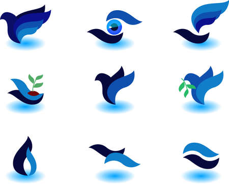 set of symbols Illustration