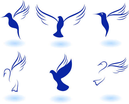 Vector illustration of birds - icon set number 9 Illustration