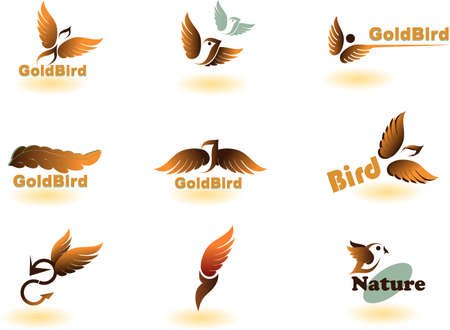 Vector illustration of birds - icon set number 2