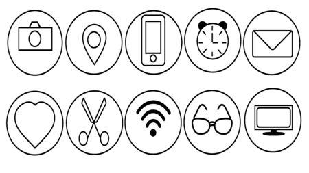 social icons vector 일러스트