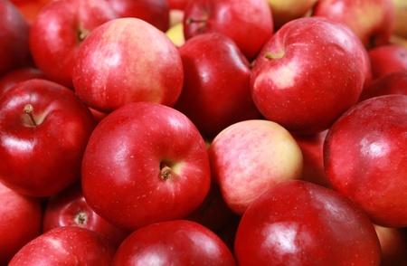 신선한 빨간 사과와 배경