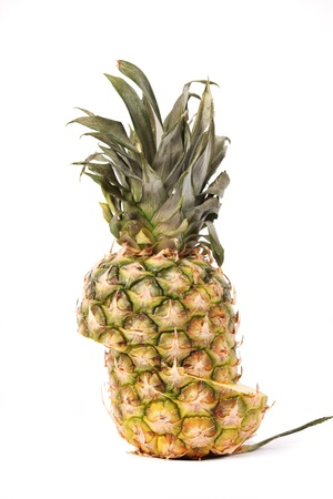shifted: fresh pineapple cut on halfs and shifted