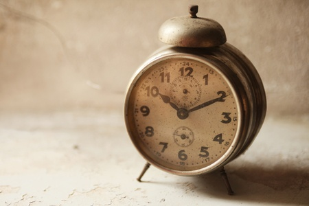 wakeup: old vintage wake-up clock Stock Photo