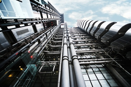 lloyd's of london: wide angle chot of the Lloyds building Editorial