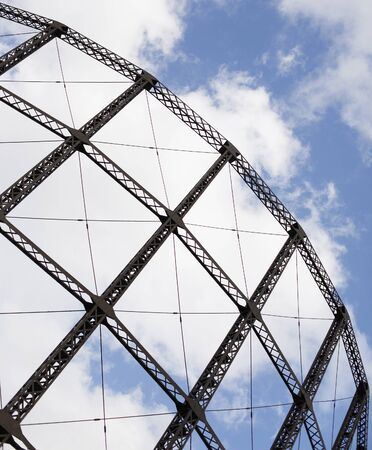 clincher: metallic construction against blue sky