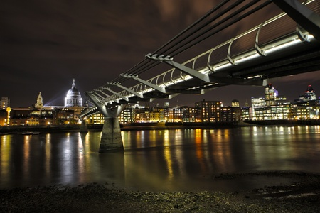Millennium Bridge and st.Paul photo