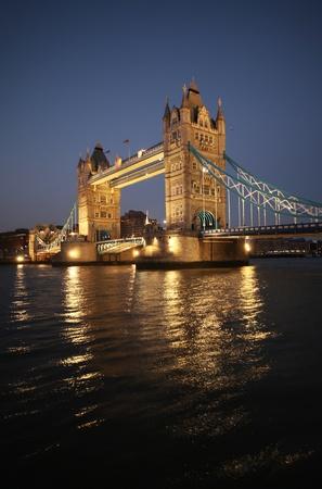 south london: london tower bridge at night Stock Photo