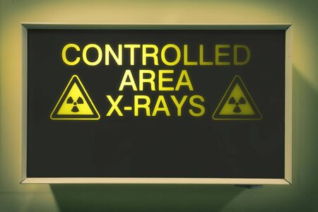 controlled: controlled area x-rays lightbox in hospital