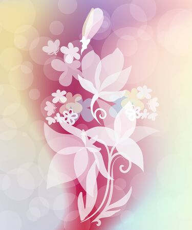 Spring flower background with effect of a transparency Vector