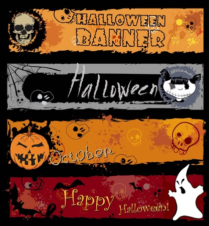 Halloween Banners, pumpkin with Teeth in the form of number thirty one Vector