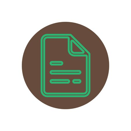 topic: Vector icon  on the topic office  on  circle document Illustration