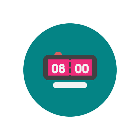 pm: Vector icon on the white backgrounds in circles Digital clock