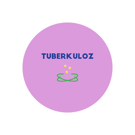 communicable: Vector icon  on  circle various symptoms of Tuberculosis on the human Illustration
