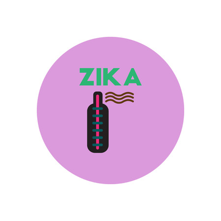 rash: Vector icon  on  circle various symptoms of Zika on the human Illustration