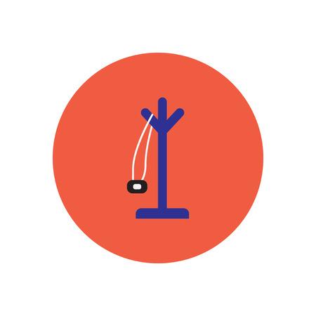 coat hanger: stylish icon in  circle floor Coat hanger