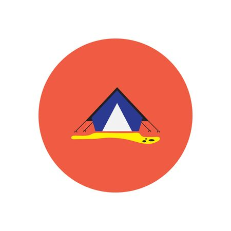 pegs: stylish icon in  circle camp tourist tent