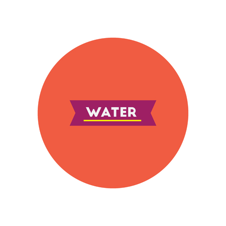 reflection of life: stylish icon in color  circle water text