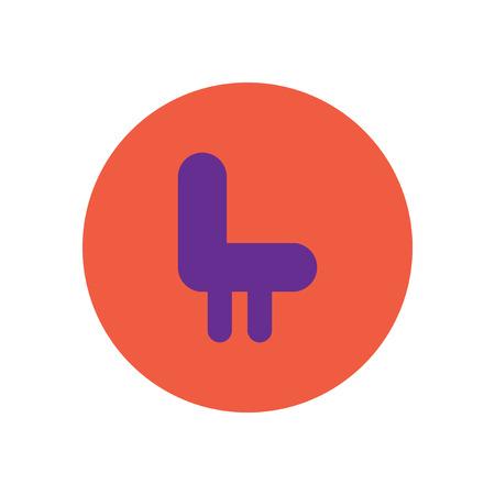 stylish icon in color  circle seat transport Ilustração